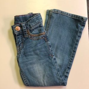 Rock 47  Wrangler little girl jeans size 5 slim